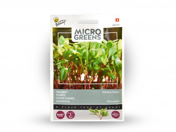 Buzzy Microgreens Mangold Rainbow Mix