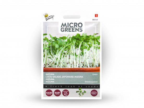 Buzzy Microgreens Mizuna Grün